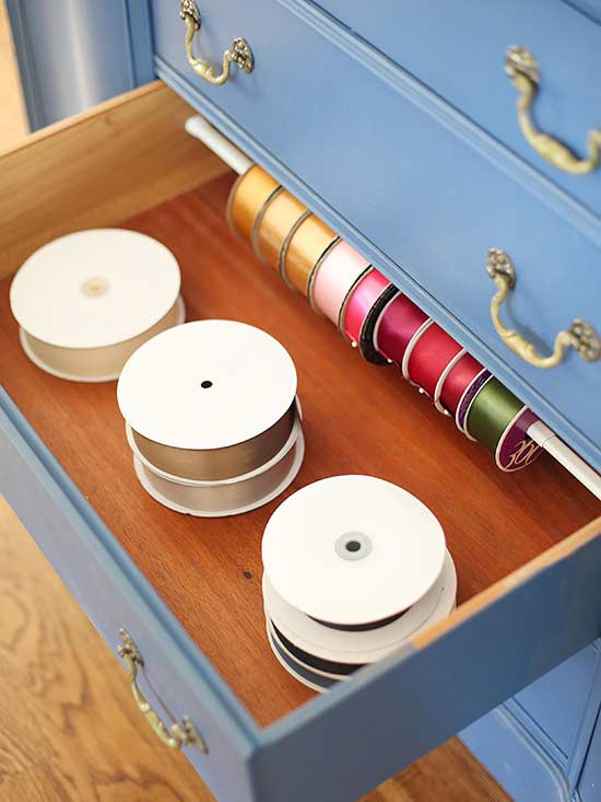 ribbon spools- one time use only blogger image