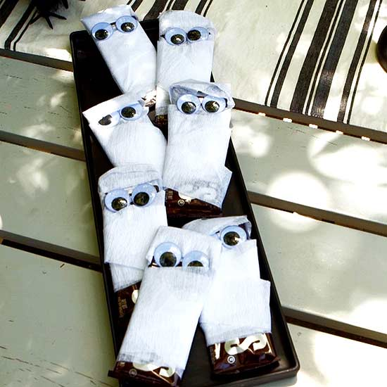 mummy wrapped chocolate bars