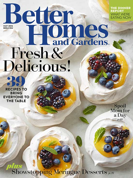 Better Homes and Gardens magazine cover 2016