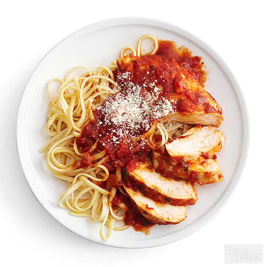 Marinara-Poached Chicken