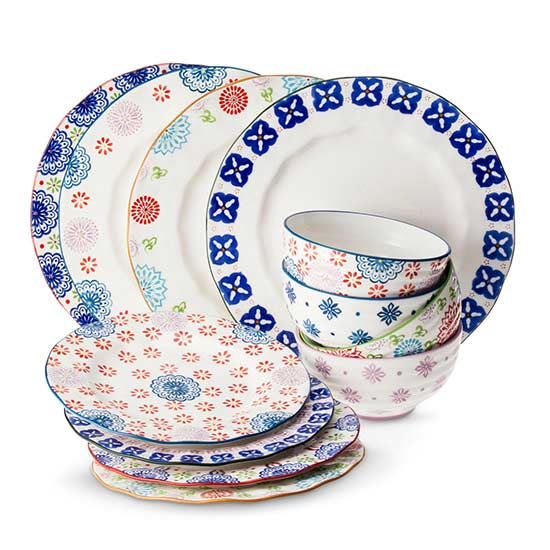 Boho Boutique Floral Ceramic Dinnerware