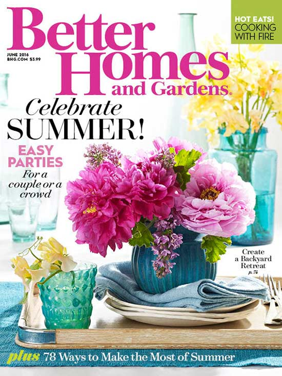 Better Homes and Gardens June 2016 cover