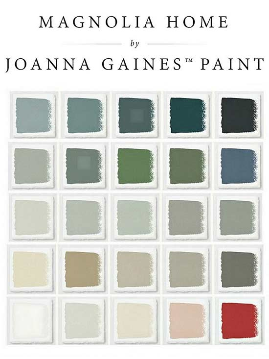 Magnolia Home by Joanna Gaines paint chips