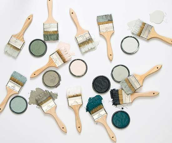Magnolia Home by Joanna Gaines paint brushes and paint