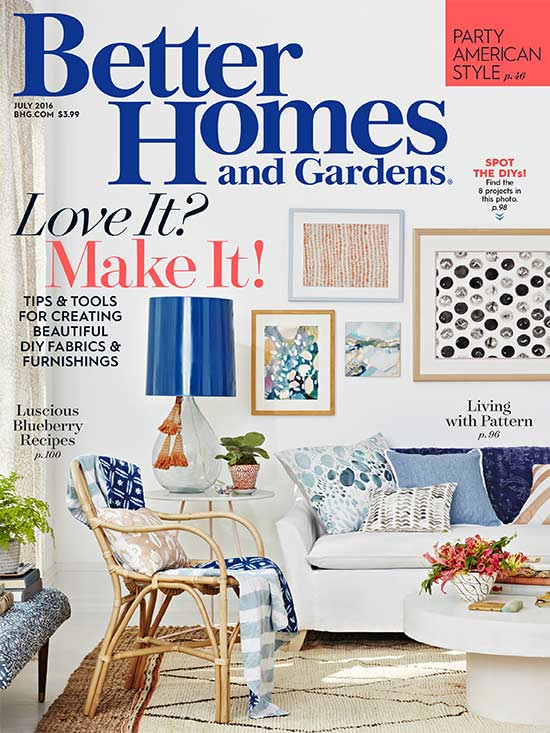 July 2016 BHG cover