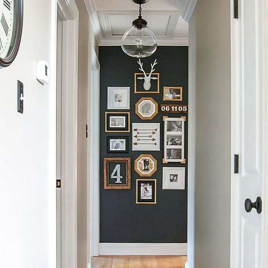 painted hallway collage