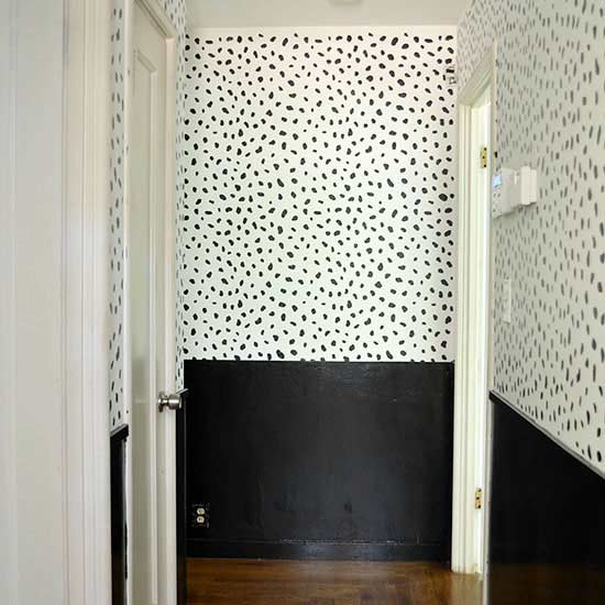 black and white spotted wall