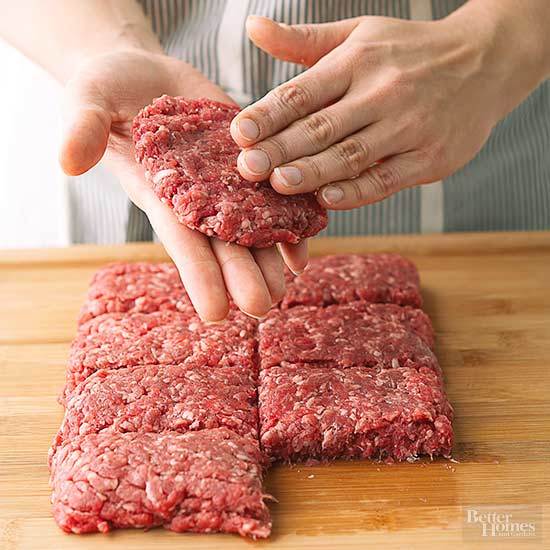 Shaping burger patties