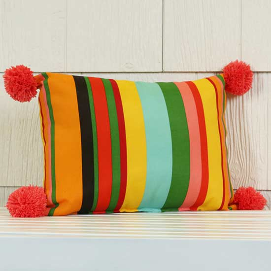 Quick Ways to Update Outdoor Pillows-stripe pillow