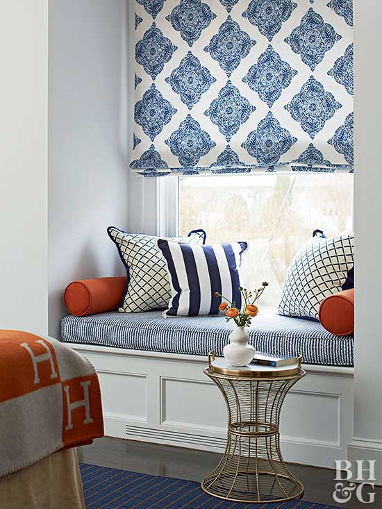 window seat nook shades
