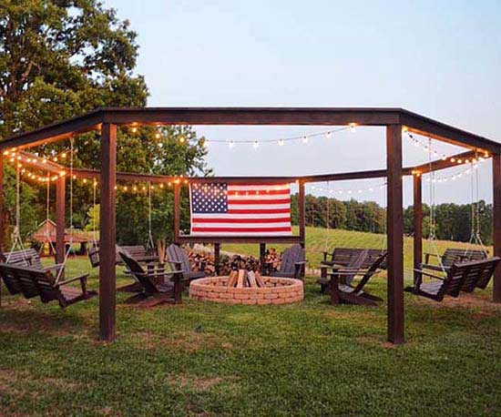 A Stunning DIY Pergola with Swings
