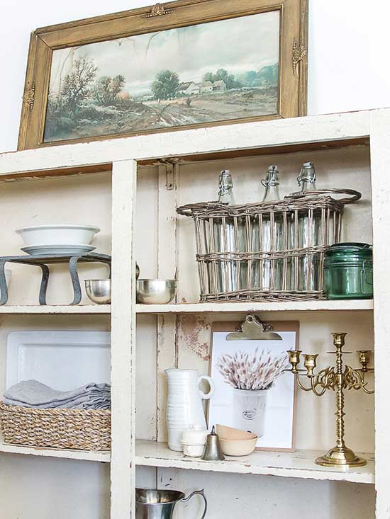 Neutral Antique Bookcase