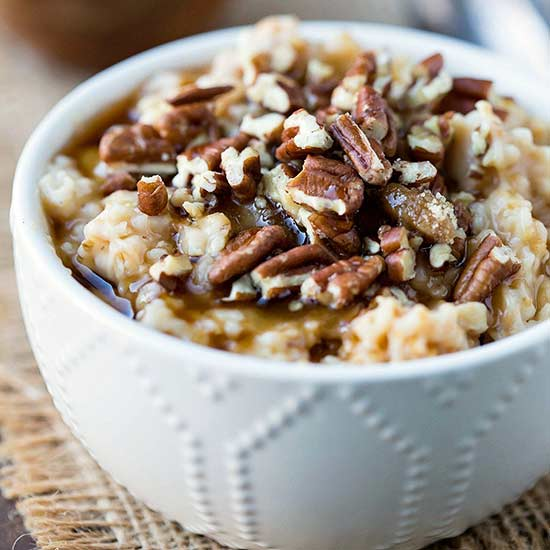 Slow Cooker Overnight Pecan Pie Oatmeal
