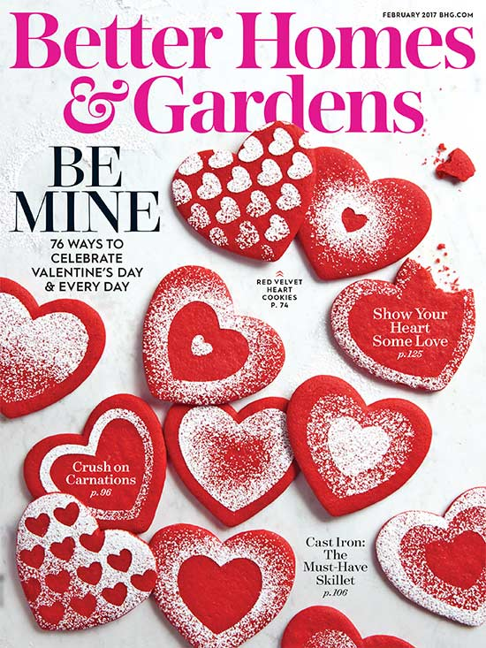 Better Homes and Gardens February Cover 2017