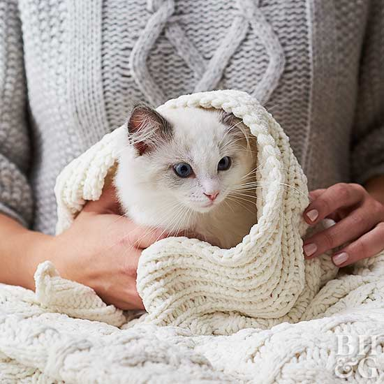 crochet cat blanket