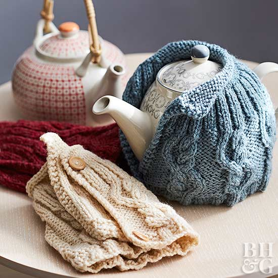 crochet teapot holder