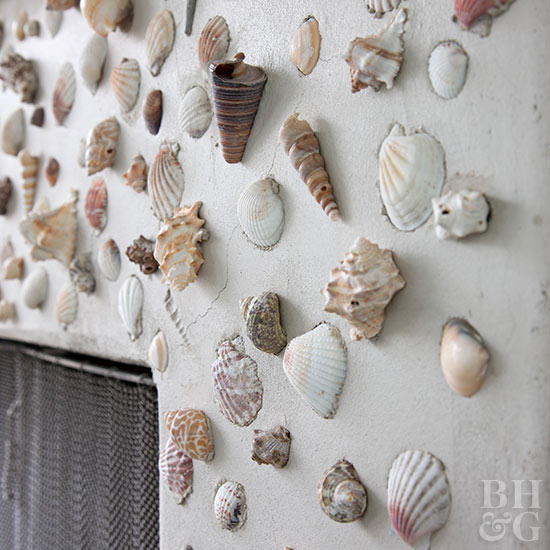Sea shell fireplace
