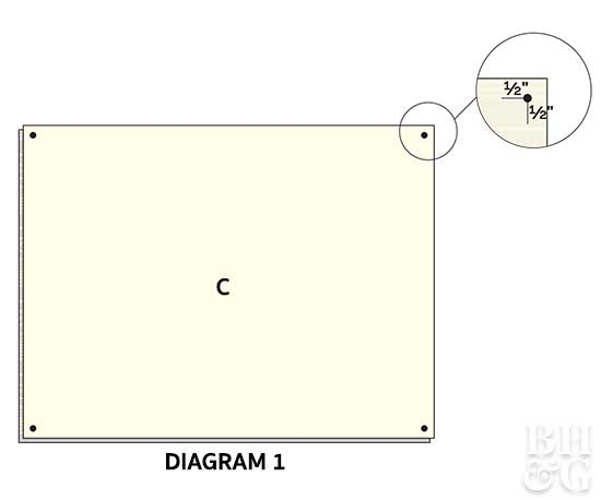 diagram for assembling small dog bed