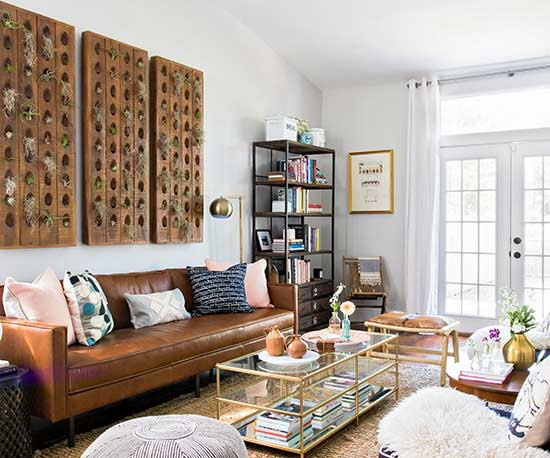 global eclectic living room