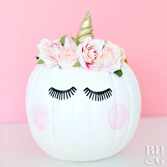 DIY unicorn pumpkin, unicorn pumpkin, DIY