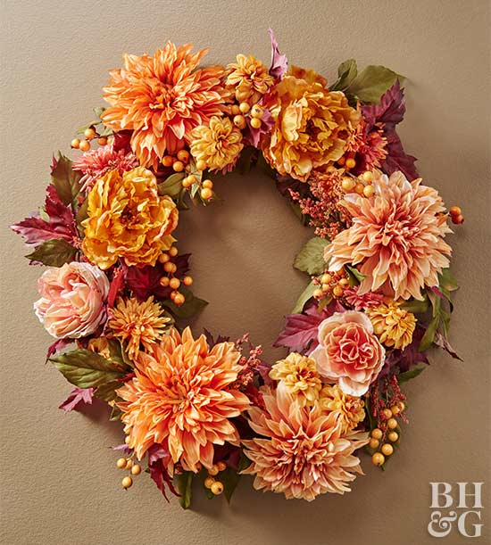 fall flower wreath