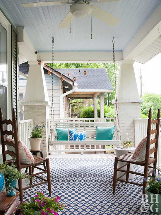 front porch and swing
