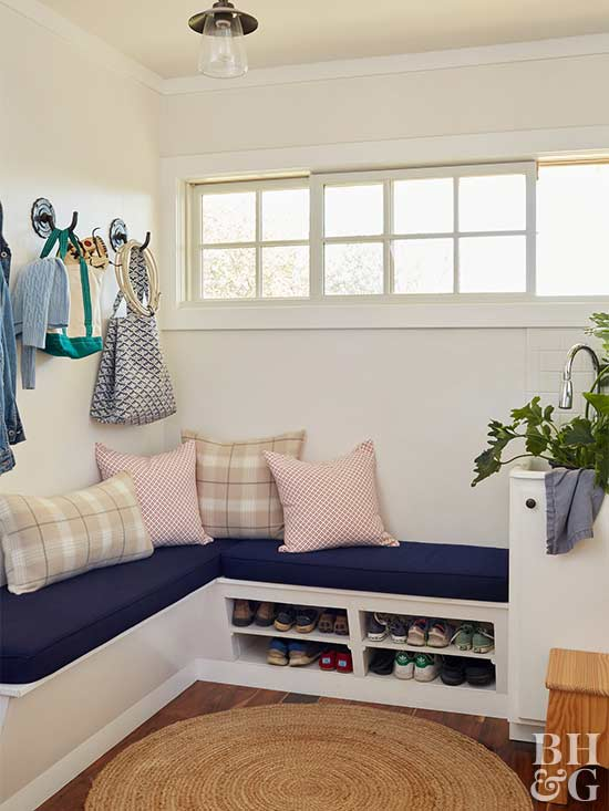 entry way storage nook