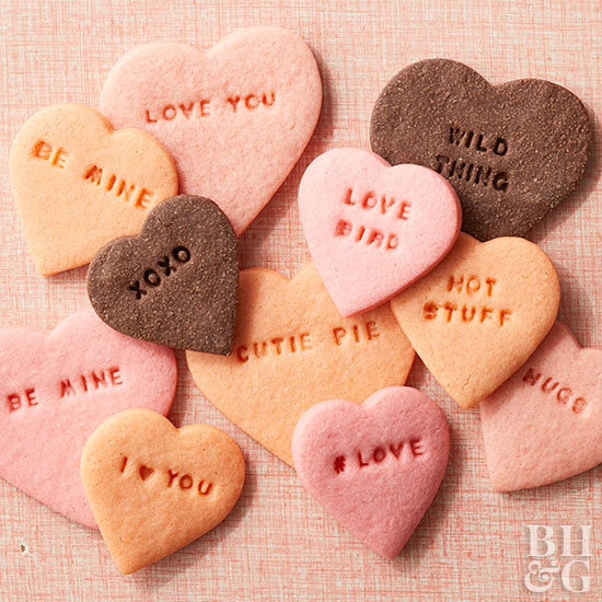 Conversation Heart Cut-Out Cookies