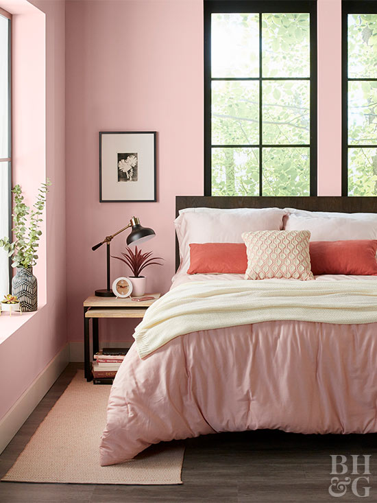 pink bedroom paint ideas paint colors for bedrooms better homes amp gardens 16714