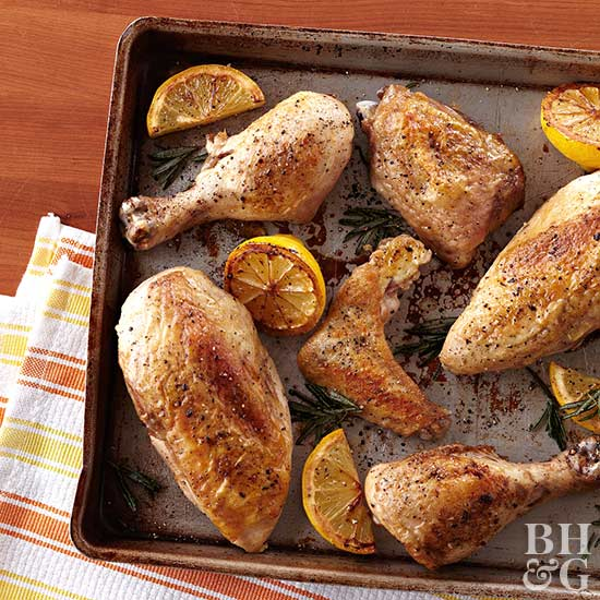 Baked chicken legs on sheetpan, chicken, sheetpan