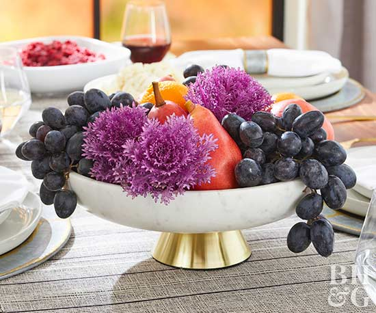 grape and pear thanksgiving centerpiece