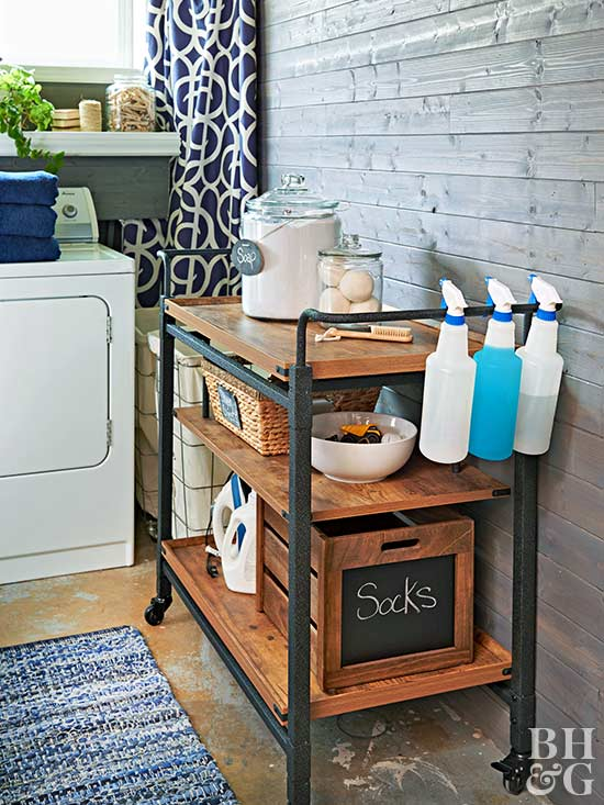 laundry cart storage
