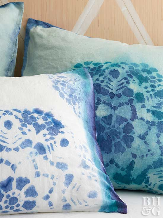 dyed pillowcases