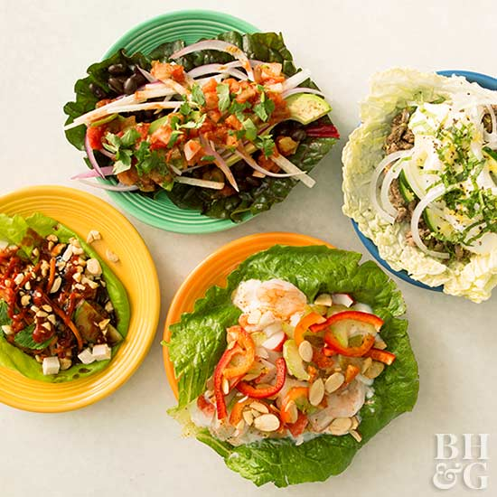 4 Fresh Lettuce Wraps