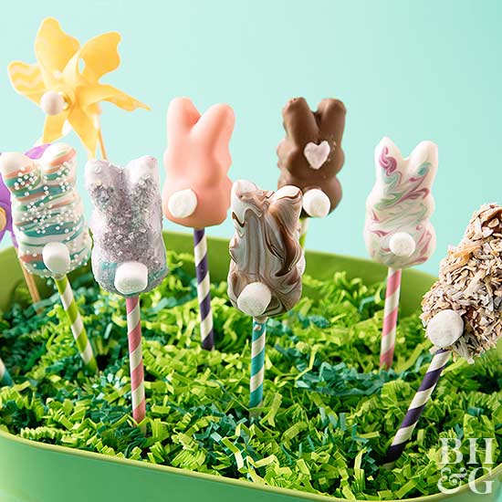 Dressed-Up Marshmallow Bunnies