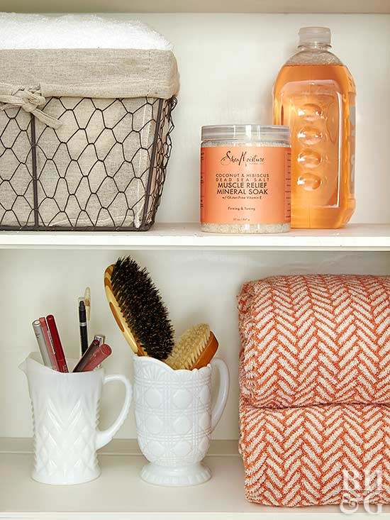 bathroom shelving solution