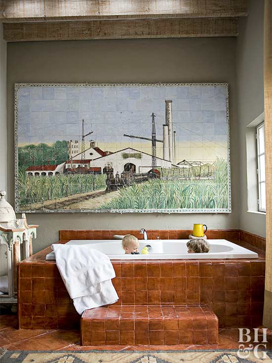 kids bathtub rustic farmhouse bathroom