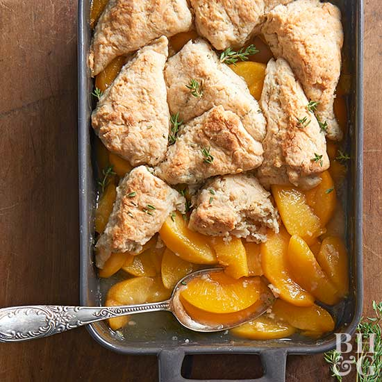 Peach Cobbler with Thyme Biscuits