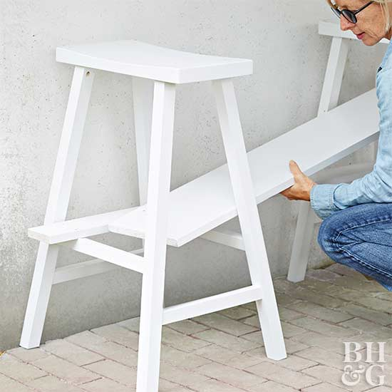 painted sawhorse