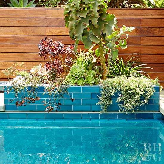Pool landscaping inspiration better homes gardens for Better homes and gardens swimming pools