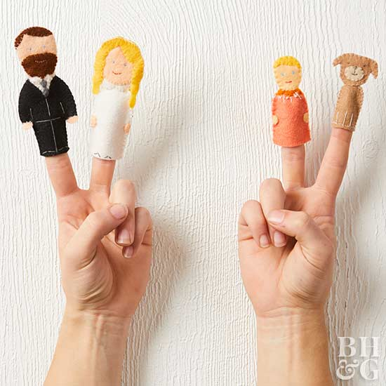 finger puppets, Father's Day Cards, hands, fingers