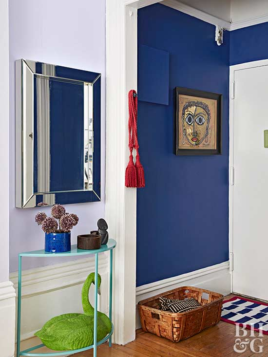 colorful entryway