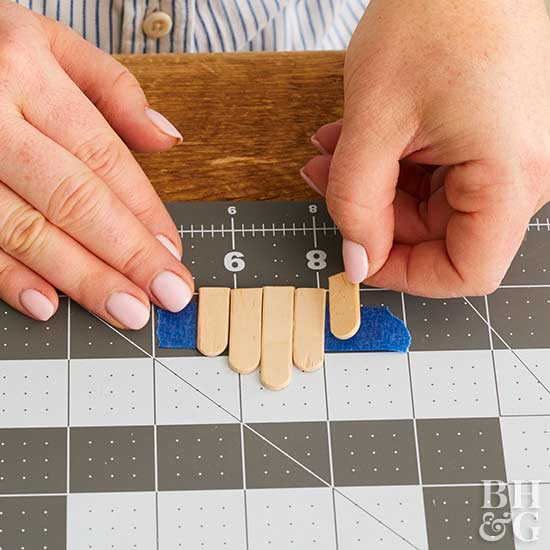 popsicle stick bench, mini bench, DIY, craft
