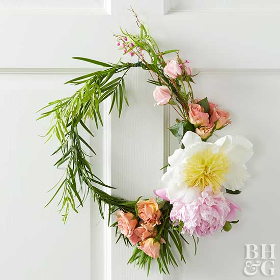 hanging floral wreath project