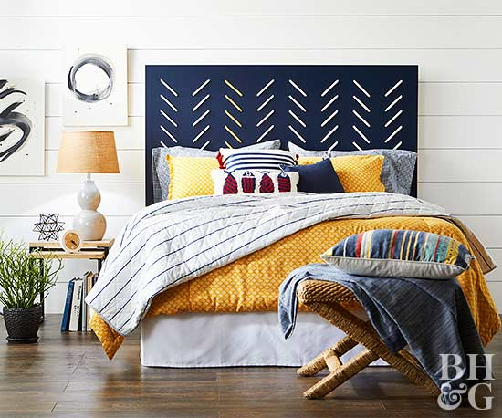 navy blue headboard
