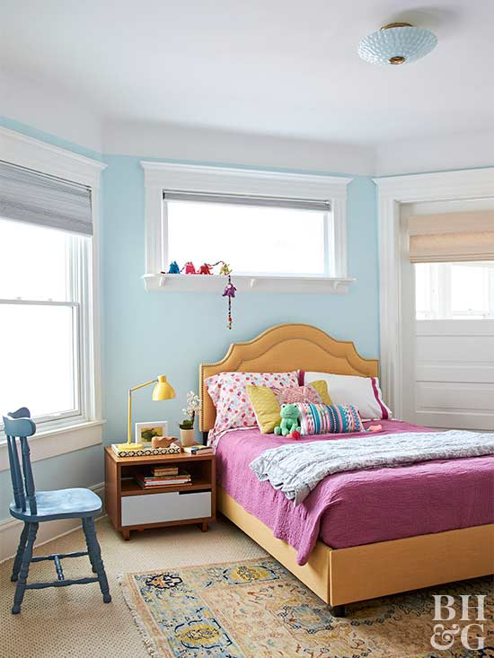 colorful feminine bedroom