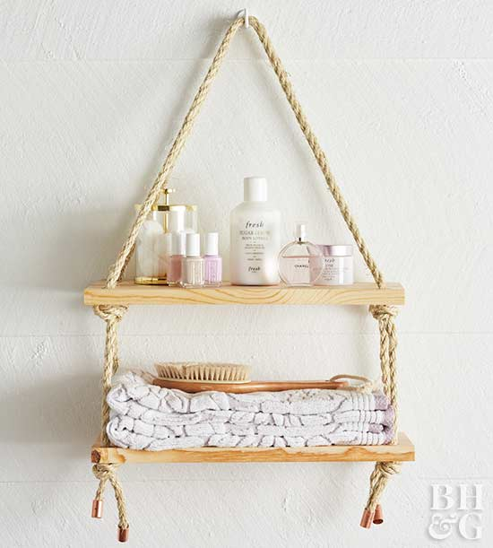 rope shelf, shelf, rope, shelf