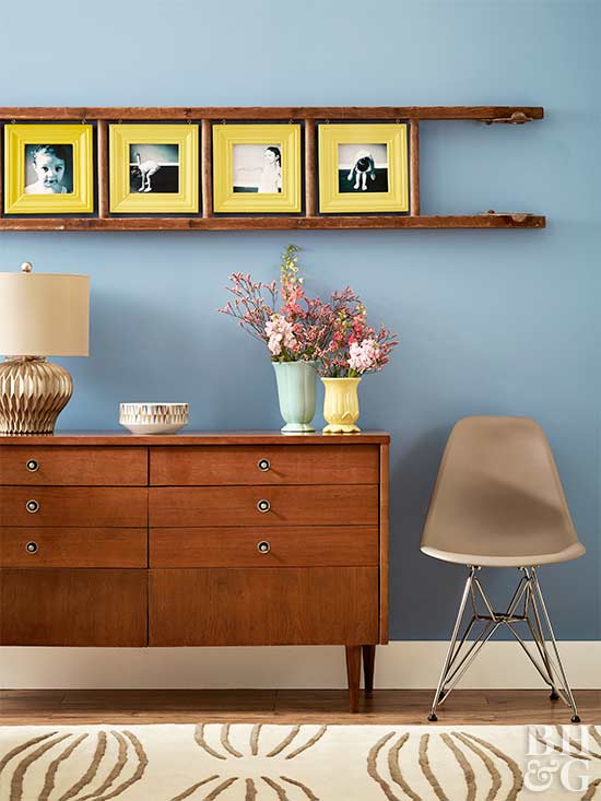 sideboard chair and diy ladder frame