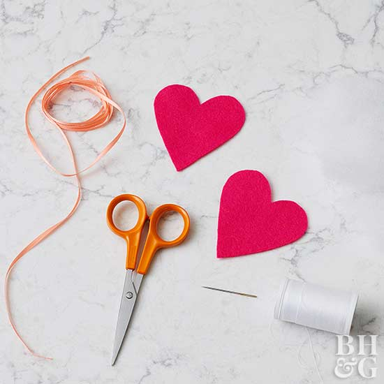 heart ornament diy