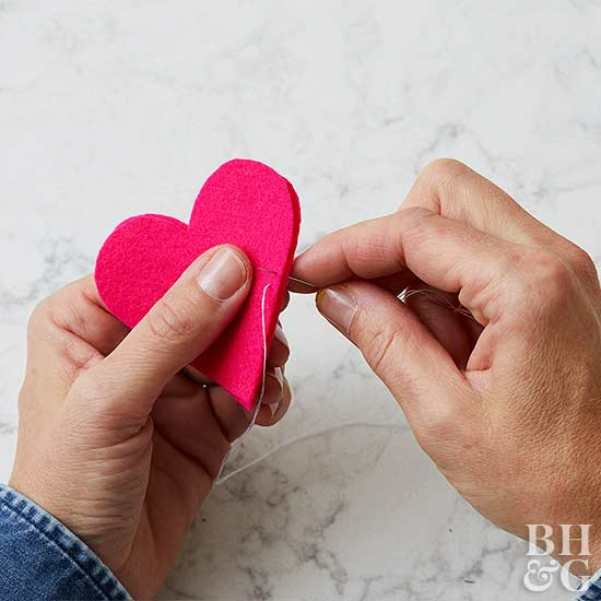 heart ornament diy sewing